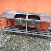 Fabricação de mesa em aço inox sob medida para bares restaurantes lanchonete e confeitaria 4