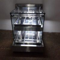 Fabricação de vitrine em aço inox sob medida para bares, restaurantes, lanchonete e confeitaria 2